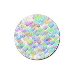 Heart Clock Rubber Round Coaster (4 pack) by devilisha