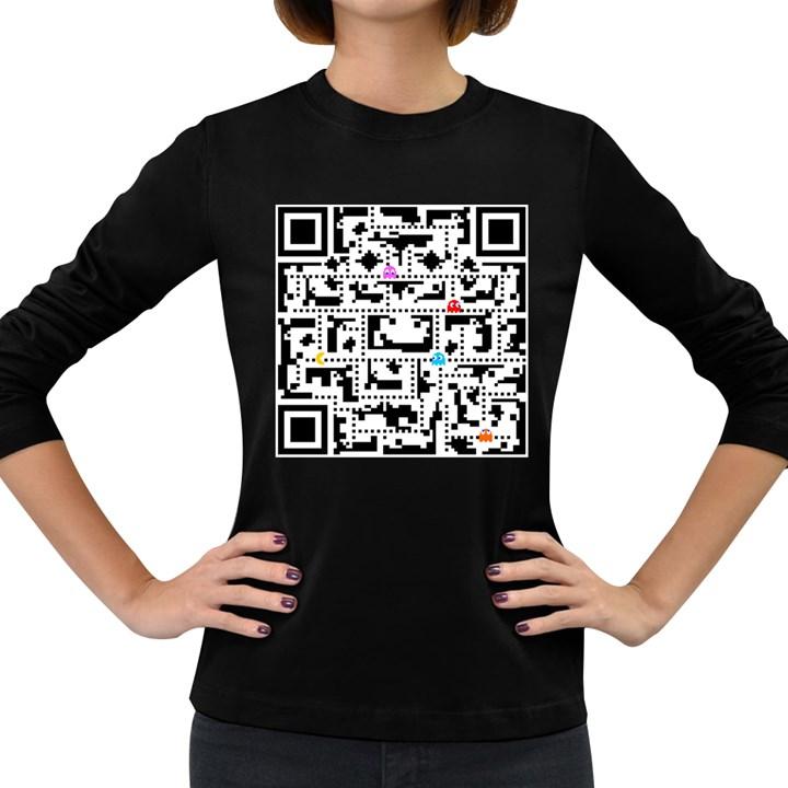 Extraordinary QR Women s Long Sleeve Dark T-Shirt
