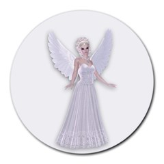 Beautiful Fairy Nymph Faerie Fairytale 8  Mouse Pad (round) by goldenjackal