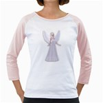 Beautiful fairy nymph faerie fairytale Women s Long Cap Sleeve T-Shirt (White)