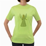 Beautiful fairy nymph faerie fairytale Womens  T-shirt (Green)
