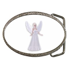 Beautiful Fairy Nymph Faerie Fairytale Belt Buckle (oval) by goldenjackal