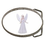 Beautiful fairy nymph faerie fairytale Belt Buckle (Oval)