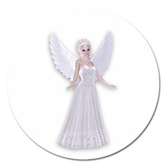 Beautiful Fairy Nymph Faerie Fairytale Magnet 5  (round) by goldenjackal