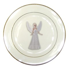 Beautiful Fairy Nymph Faerie Fairytale Porcelain Display Plate by goldenjackal