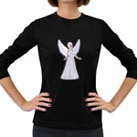 Beautiful fairy nymph faerie fairytale Womens' Long Sleeve T-shirt (Dark Colored)