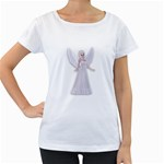 Beautiful fairy nymph faerie fairytale Womens' Maternity T-shirt (White)