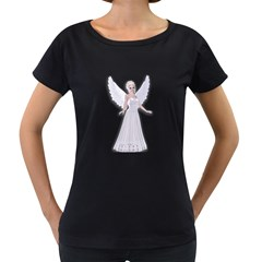 Beautiful Fairy Nymph Faerie Fairytale Womens' Maternity T Shirt (black) by goldenjackal