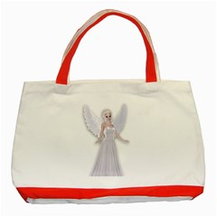 Beautiful Fairy Nymph Faerie Fairytale Classic Tote Bag (red)