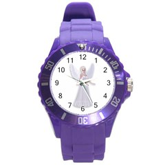 Beautiful Fairy Nymph Faerie Fairytale Plastic Sport Watch (large) by goldenjackal