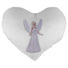 Beautiful Fairy Nymph Faerie Fairytale 19  Premium Heart Shape Cushion by goldenjackal