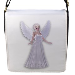 White Fairy Magic Flap Closure Messenger Bag (small) by goldenjackal