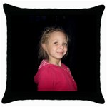 p1111 - Throw Pillow Case (Black)
