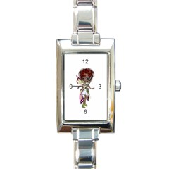Fairy Magic Faerie In A Dress Rectangular Italian Charm Watch by goldenjackal