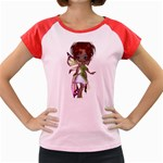Fairy magic faerie in a dress Women s Cap Sleeve T-Shirt (Colored)