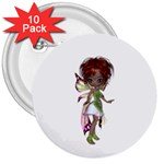 Fairy magic faerie in a dress 3  Button (10 pack)