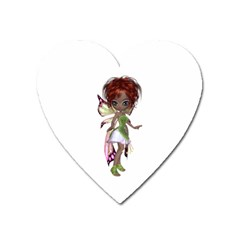 Fairy Magic Faerie In A Dress Magnet (heart) by goldenjackal