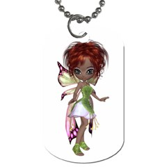 Fairy Magic Faerie In A Dress Dog Tag (one Sided)