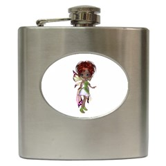 Fairy Magic Faerie In A Dress Hip Flask by goldenjackal