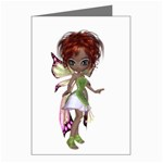 Fairy magic faerie in a dress Greeting Card (8 Pack)