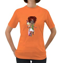 Fairy Magic Faerie In A Dress Womens' T Shirt (colored) by goldenjackal