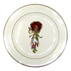 Fairy Magic Faerie In A Dress Porcelain Display Plate by goldenjackal