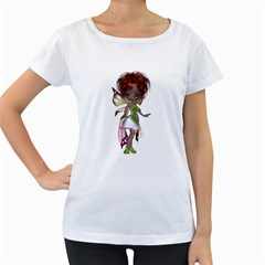 Fairy Magic Faerie In A Dress Womens' Maternity T Shirt (white) by goldenjackal