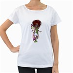 Fairy magic faerie in a dress Womens' Maternity T-shirt (White)