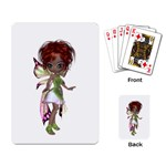 Fairy magic faerie in a dress Playing Cards Single Design