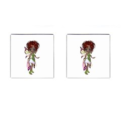 Fairy Magic Faerie In A Dress Cufflinks (square) by goldenjackal