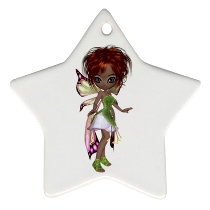 Fairy magic faerie in a dress Star Ornament (Two Sides)