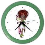 Fairy magic faerie in a dress Wall Clock (Color)