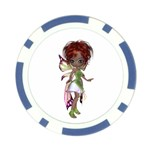 Fairy magic faerie in a dress Poker Chip