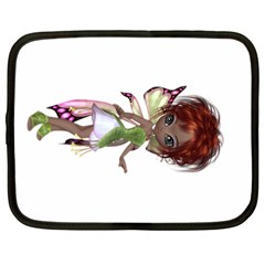 Fairy Magic Faerie In A Dress Netbook Sleeve (large) by goldenjackal