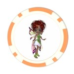 Fairy magic faerie in a dress Poker Chip (10 Pack)