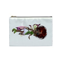 Fairy Magic Faerie In A Dress Cosmetic Bag (medium) by goldenjackal