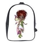 Fairy magic faerie in a dress School Bag (Large)