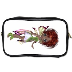 Fairy Magic Faerie In A Dress Travel Toiletry Bag (one Side) by goldenjackal