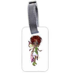 Fairy Magic Faerie In A Dress Luggage Tag (one Side) by goldenjackal