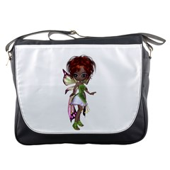 Fairy Magic Faerie In A Dress Messenger Bag by goldenjackal