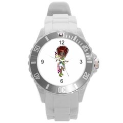 Fairy Magic Faerie In A Dress Plastic Sport Watch (large) by goldenjackal