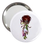 Fairy magic faerie in a dress 3  Handbag Mirror