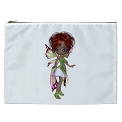Fairy Magic Faerie In A Dress Cosmetic Bag (xxl) by goldenjackal