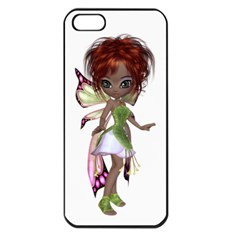 Fairy Magic Faerie In A Dress Apple Iphone 5 Seamless Case (black)