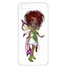 Fairy Magic Faerie In A Dress Apple Iphone 5 Seamless Case (white) by goldenjackal