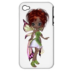 Fairy Magic Faerie In A Dress Apple Iphone 4/4s Hardshell Case (pc+silicone) by goldenjackal