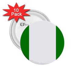 Nigeria Flag 2.25  Button (10 pack) from ArtsNow.com Front