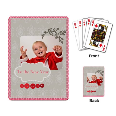 New Year By New Year   Playing Cards Single Design   P1ilibd9grz7   Www Artscow Com Back