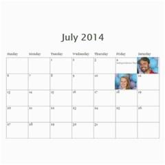 Manny By Manny   Wall Calendar 11  X 8 5  (12 Months)   Dj7py7ygyufg   Www Artscow Com Jul 2014