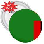 Zambia Flag 3  Button (100 pack)